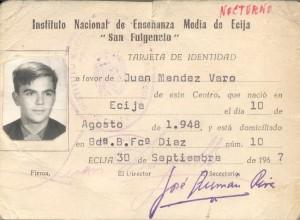 Juan Méndez Varo-CARNET SAN FULGENCIO